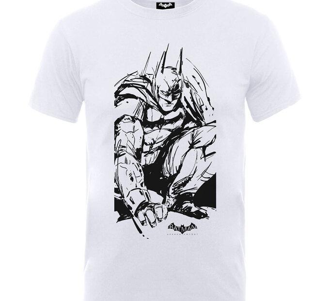 Bílé detské tričko Batman Arkham Sketch