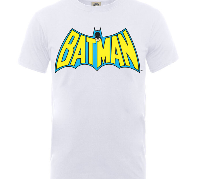 Bílé detské tričko Batman Logo