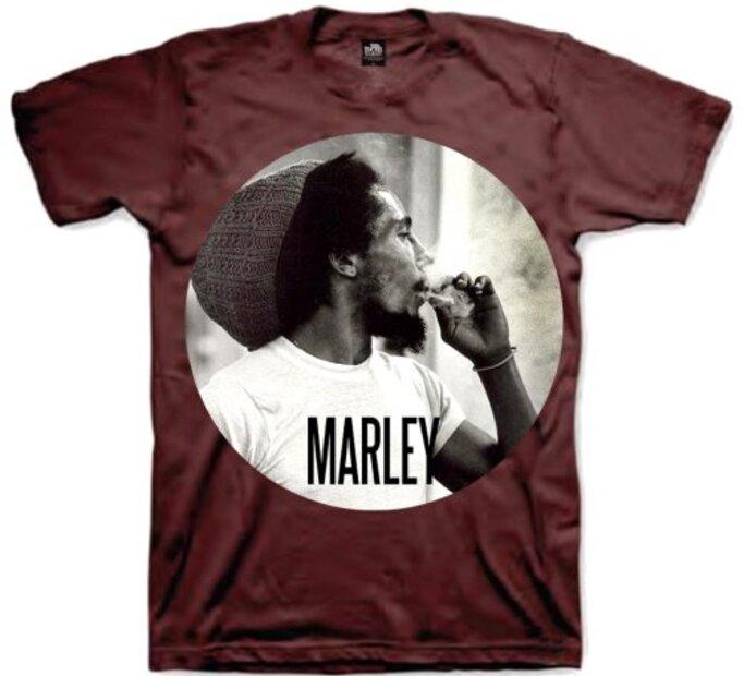 Tričko Bob Marley Smokin Circle