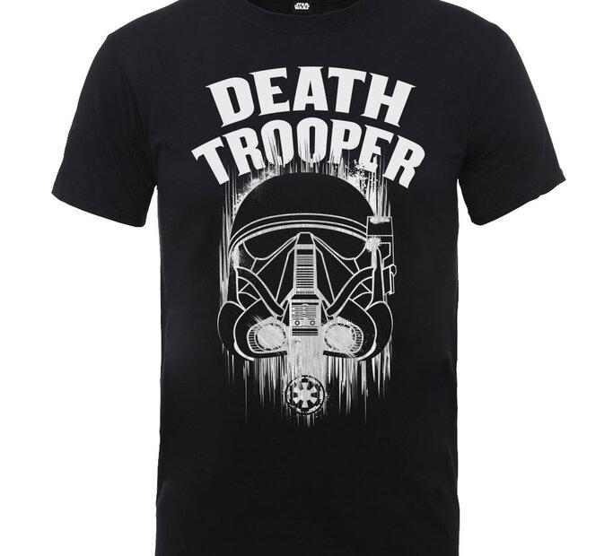 Čierne detské tričko Star Wars Rogue One Death Trooper