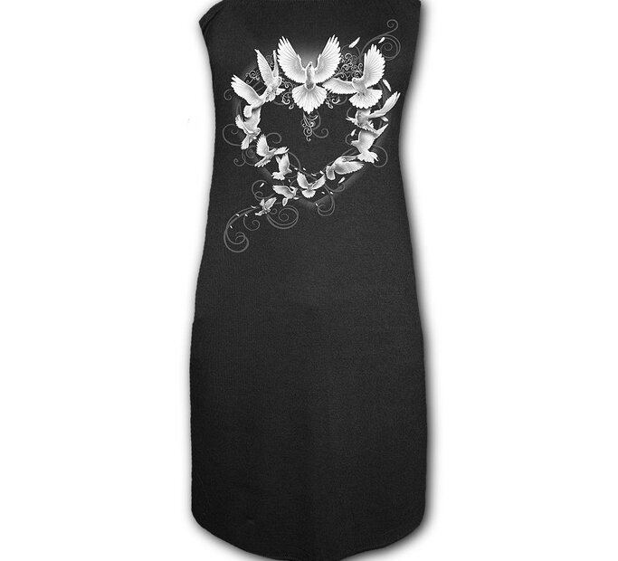 Čierne šaty Holubice mieru