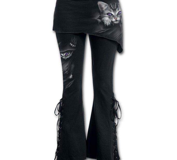 Dámske nohavice 2v1 s motívom Mačacie pazúriky