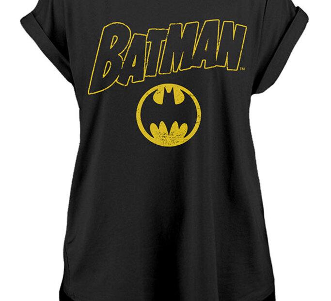 Dámské prodloužené triko Batman - Vintage logo