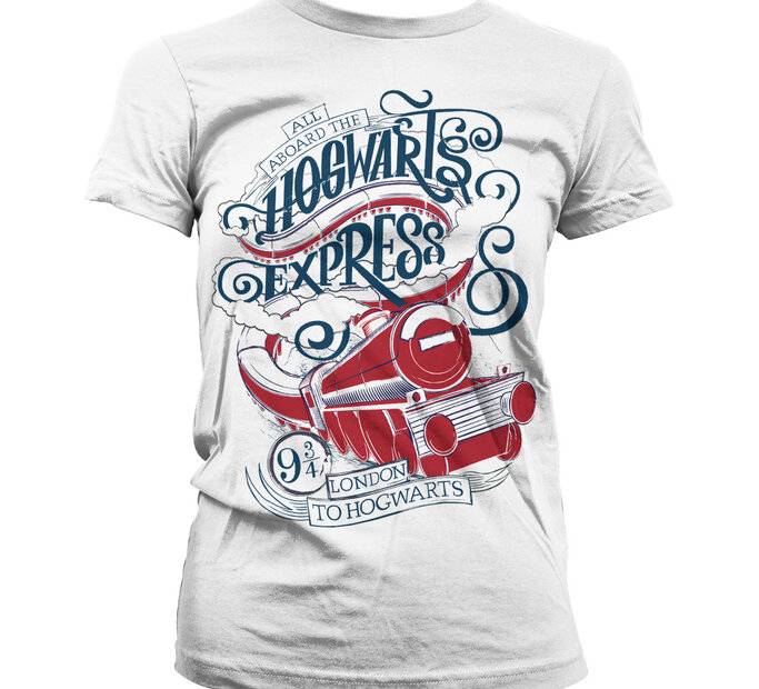 Dámske tričko Harry Potter Rokfortský expres Všetci na palube