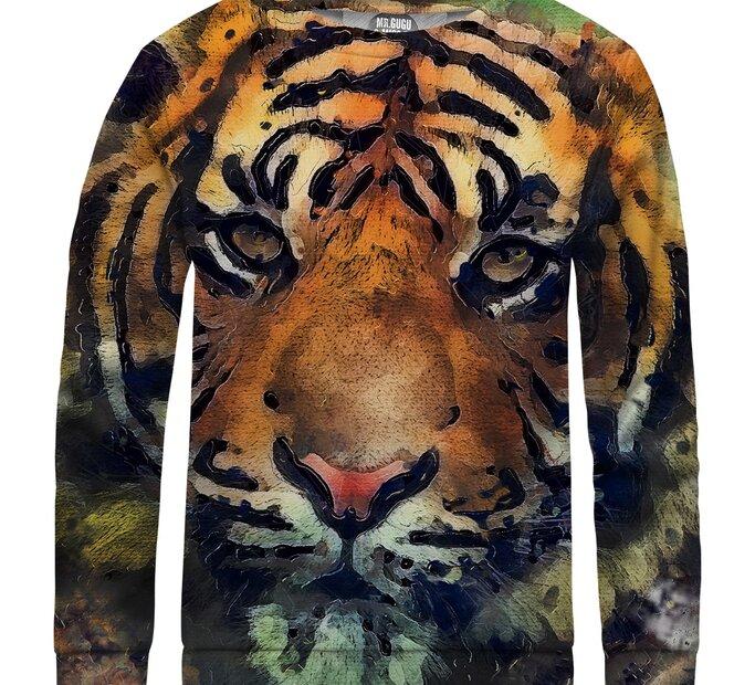 Detská mikina bez kapucne Aquarelle Tiger