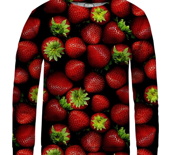 Detská mikina bez kapucne Strawberries