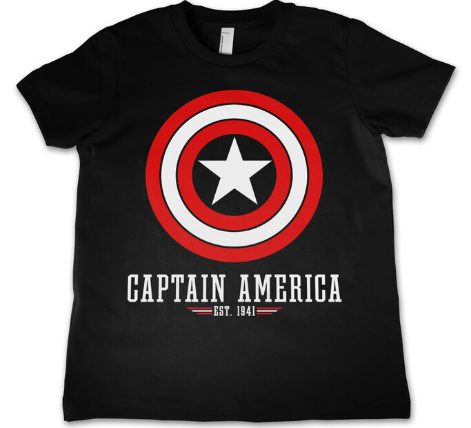 Detské tričko Marvel Comics Captain America Logo