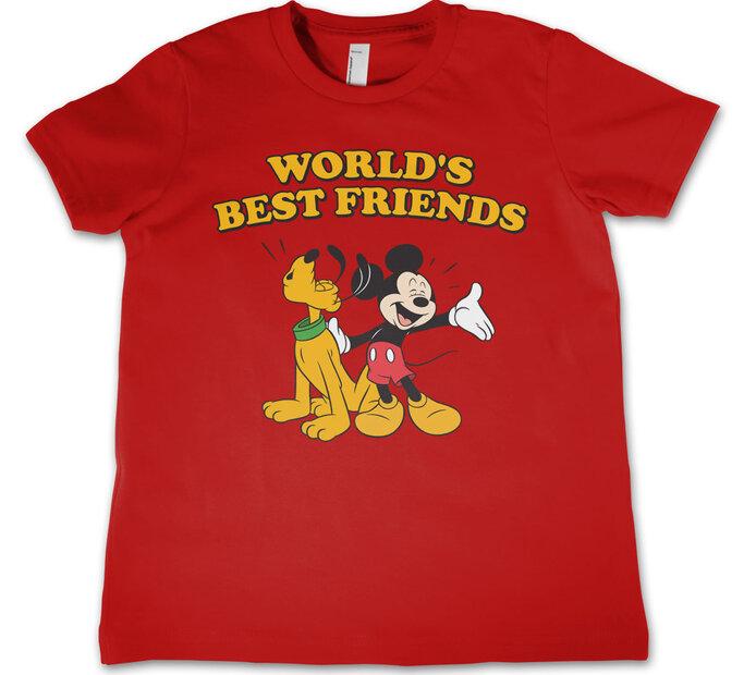 Tricou copii Mickey și Pluto Cei  mai buni prieteni