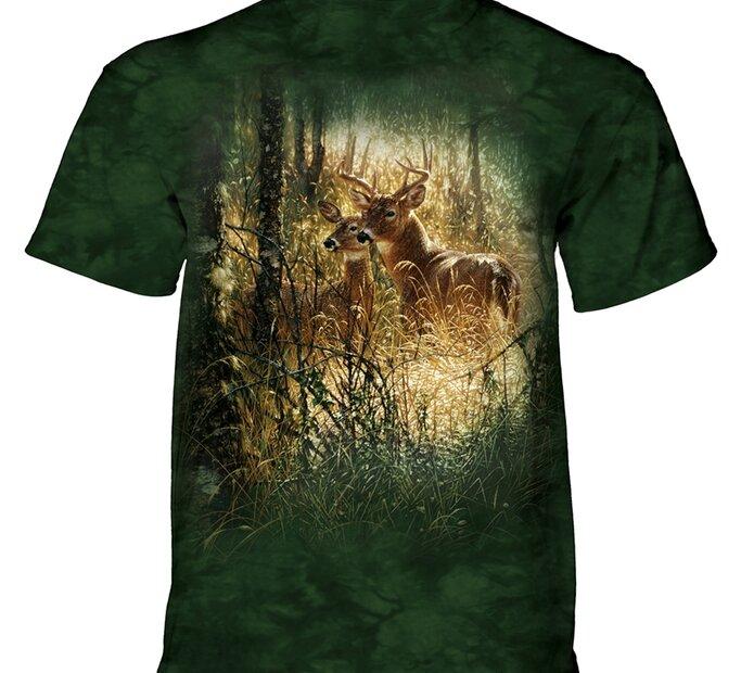 Tričko Jeleni v trávě