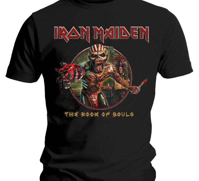 Tričko Iron Maiden Book of Souls Eddie Circle