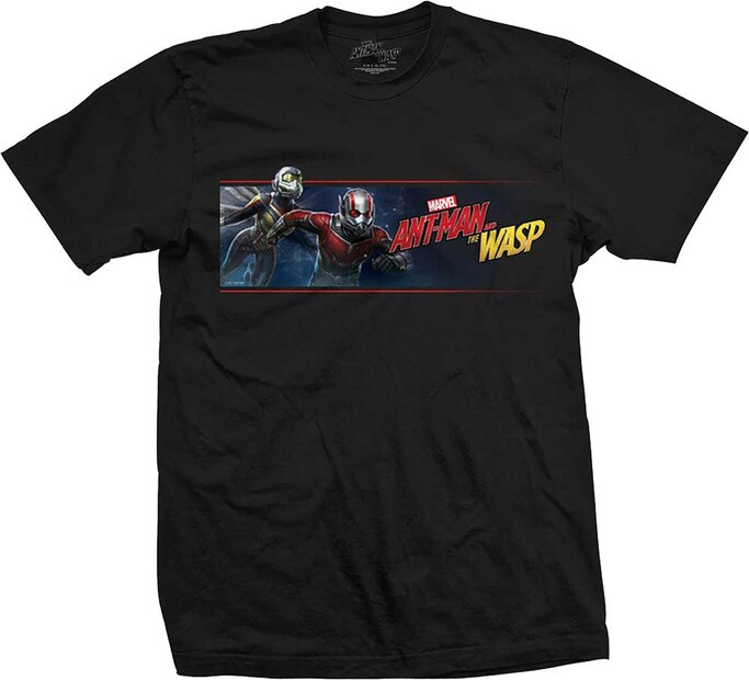 Čierne Tričko Marvel Comics Ant Man & The Wasp Banner
