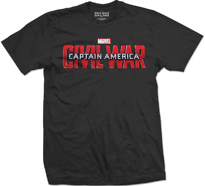 Tričko Marvel Comics Captain America Civil War Movie Logo
