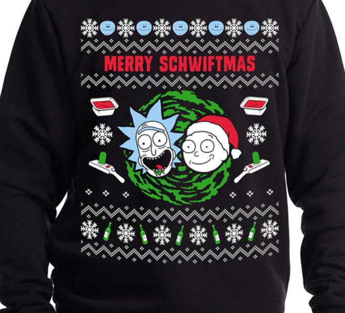 Sweatshirt Rick and Morty - Merry Schwiftmas