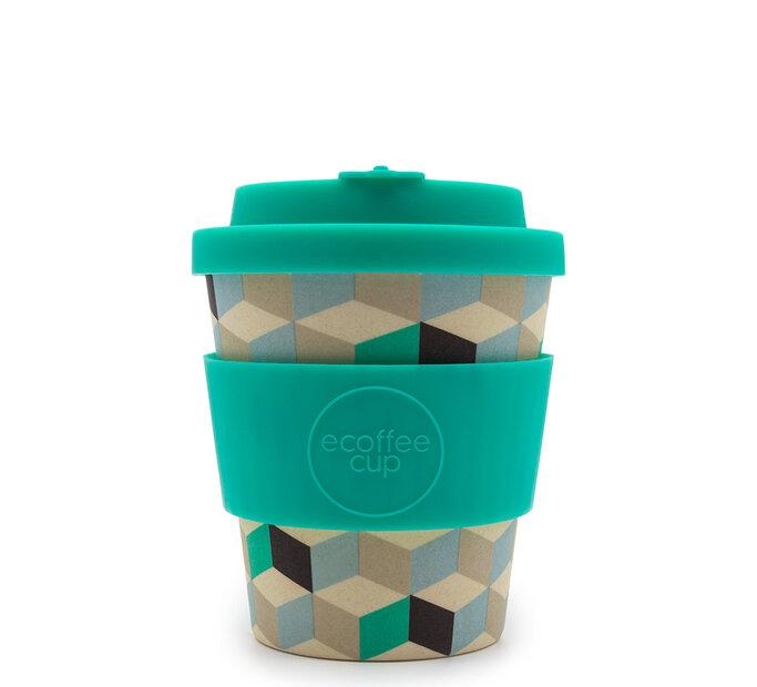Mini bambusový ecoffee cup 3D kocky
