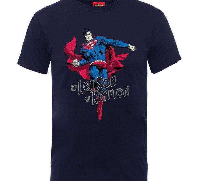 Modré detské tričko  DC Comics Superman Son of Krypton