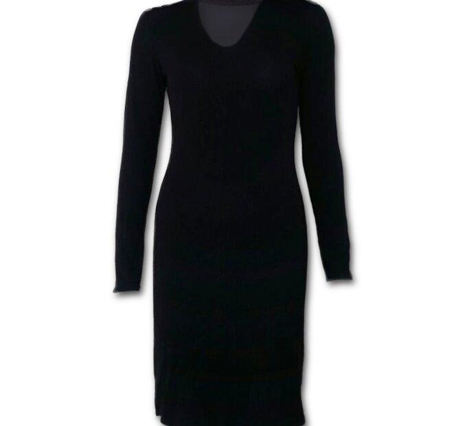 Elegantné čierne gotické šaty