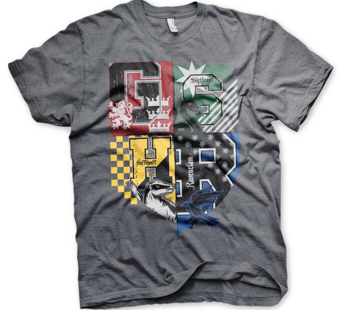 Sivé tričko Harry Potter Fakulty