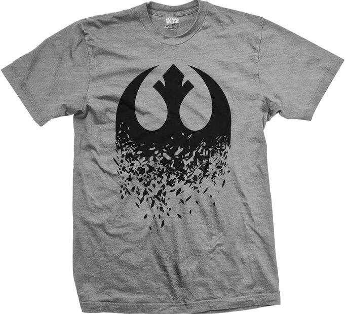Tričko Star Wars Episode VIII Rebel Logo Splintered
