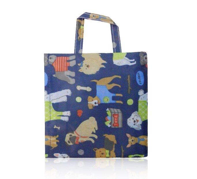 Tmavomodrá nákupná taška Psie plemená