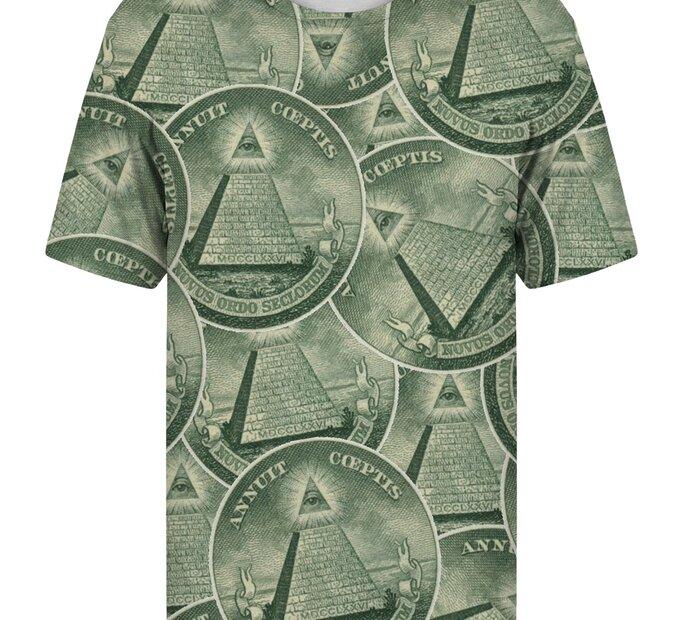 T-Shirt mit kurzen Ärmeln Illuminaten