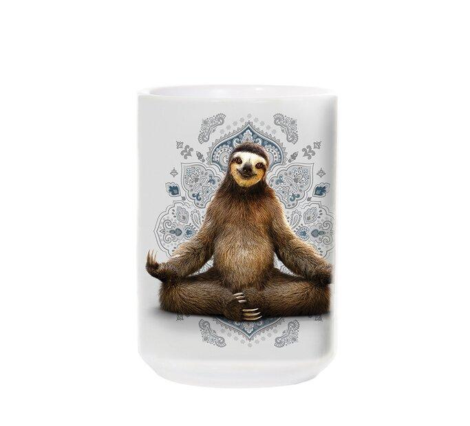 Keramický hrnček Meditujúci leňochod