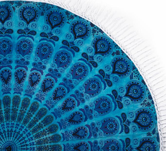 Kulatá plážová deka Mořské oko