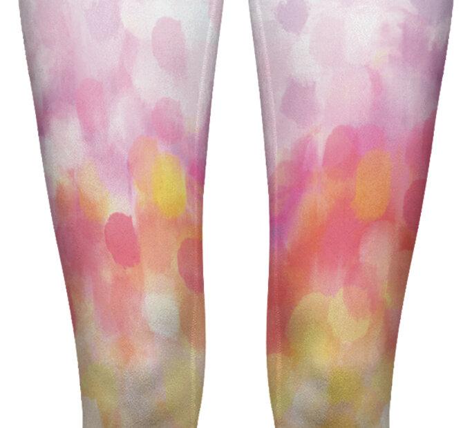 Damen Leggings elastisch mit hoher Taille Früchtepunsch