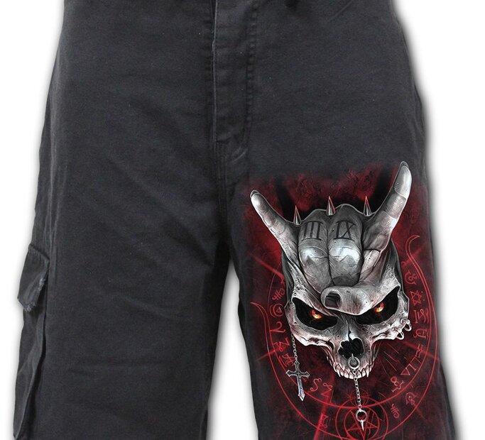 Pánske krátke nohavice Lebka s rohami