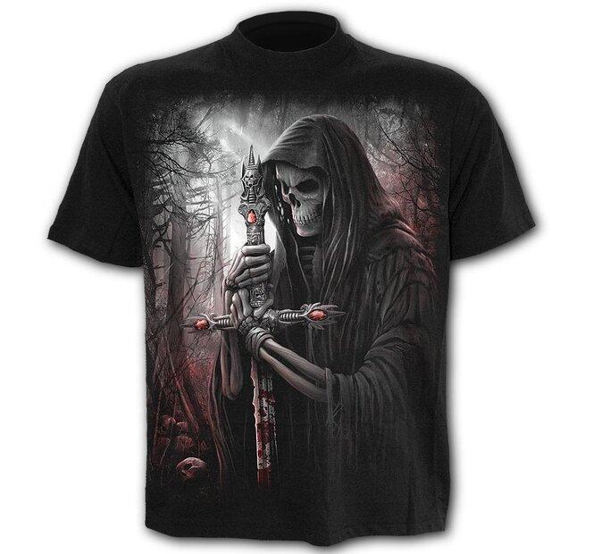 Tričko Plus size s krátkym rukávom Rytier smrti