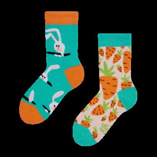 Chaussettes Joyeuses enfant Lapin et carotte