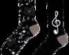 Original gift Chaussettes Joyeuses Musique