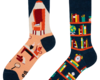 Looking for an original and unusual gift? The gifted person will surely surprise with Good Mood Socks - Library
