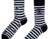 Looking for an original and unusual gift? The gifted person will surely surprise with Good Mood Socks Cats & Stripes