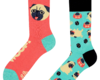 Looking for an original and unusual gift? The gifted person will surely surprise with Good Mood Socks - Pug Life