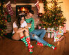 Original gift Good Mood Warm Socks Santa & Rudolph