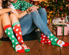 Gift idea Good Mood Warm Socks Santa & Rudolph
