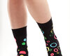Original gift Good Mood Socks - Neon dots