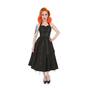 Fekete gótikus retró ruha