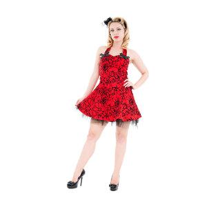 Piros rövid gótikus ruha