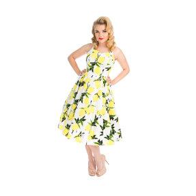 White Retro Pin Up Dress Lemons