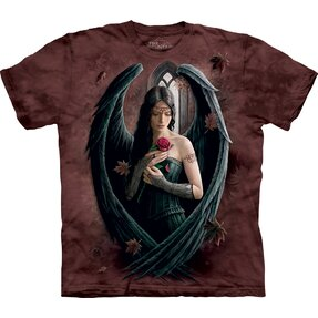 T-shirt Black Angel with Rose