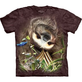 T-shirt Sloth Upside Down