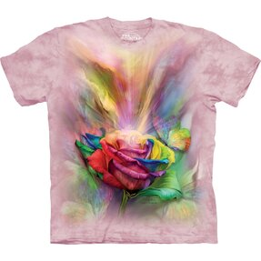 T-Shirt Farbige Rose
