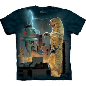T-shirt Cat and Robots