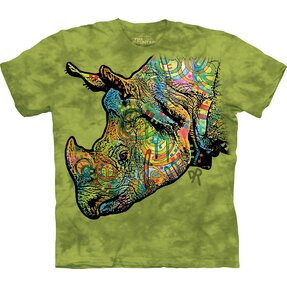 T-Shirt Farbiges Nashorn