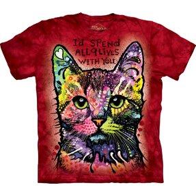 T-Shirt Ergebenheit der Katze
