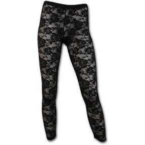 Ladies Legging's Black Lace