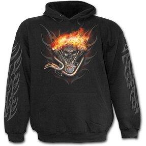 Mikina s kapucňou Koleso v ohni
