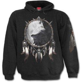 Sweatshirt mit Kapuze Wolfsgesicht