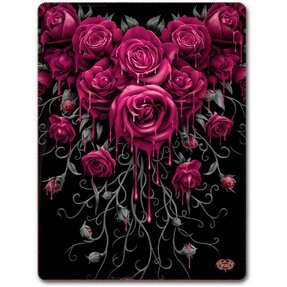 Véres rózsák pokróc